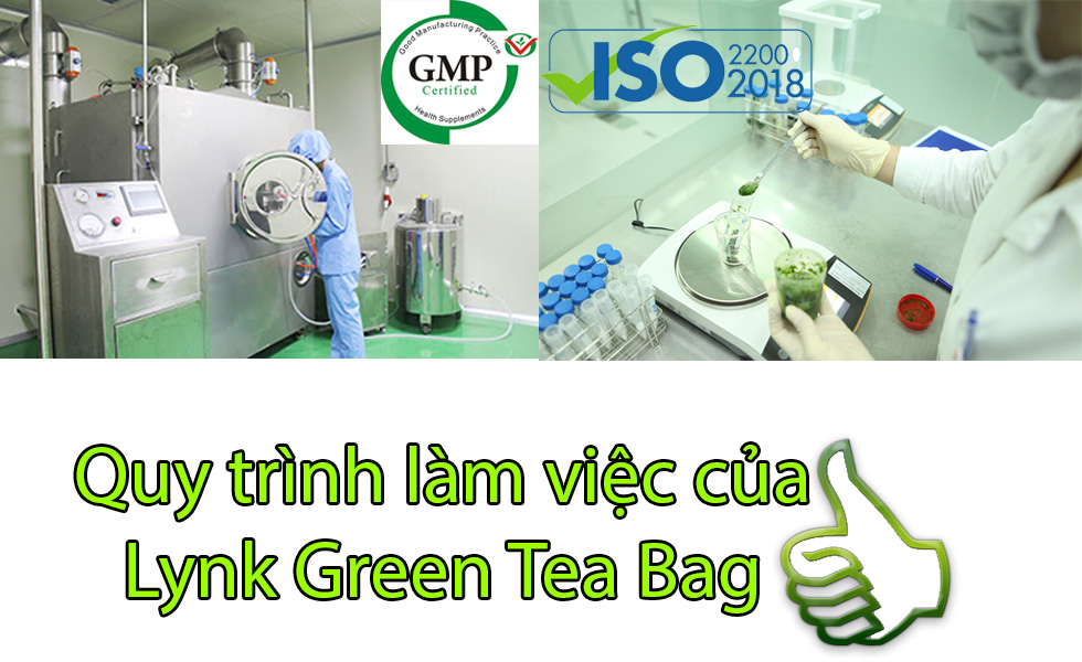 Quy trình làm việc của Lynk Green Tea Bag